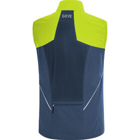 GORE WEAR R7 Partial Gore-Tex Infinium Vest Herren deep water blue/citrus green
